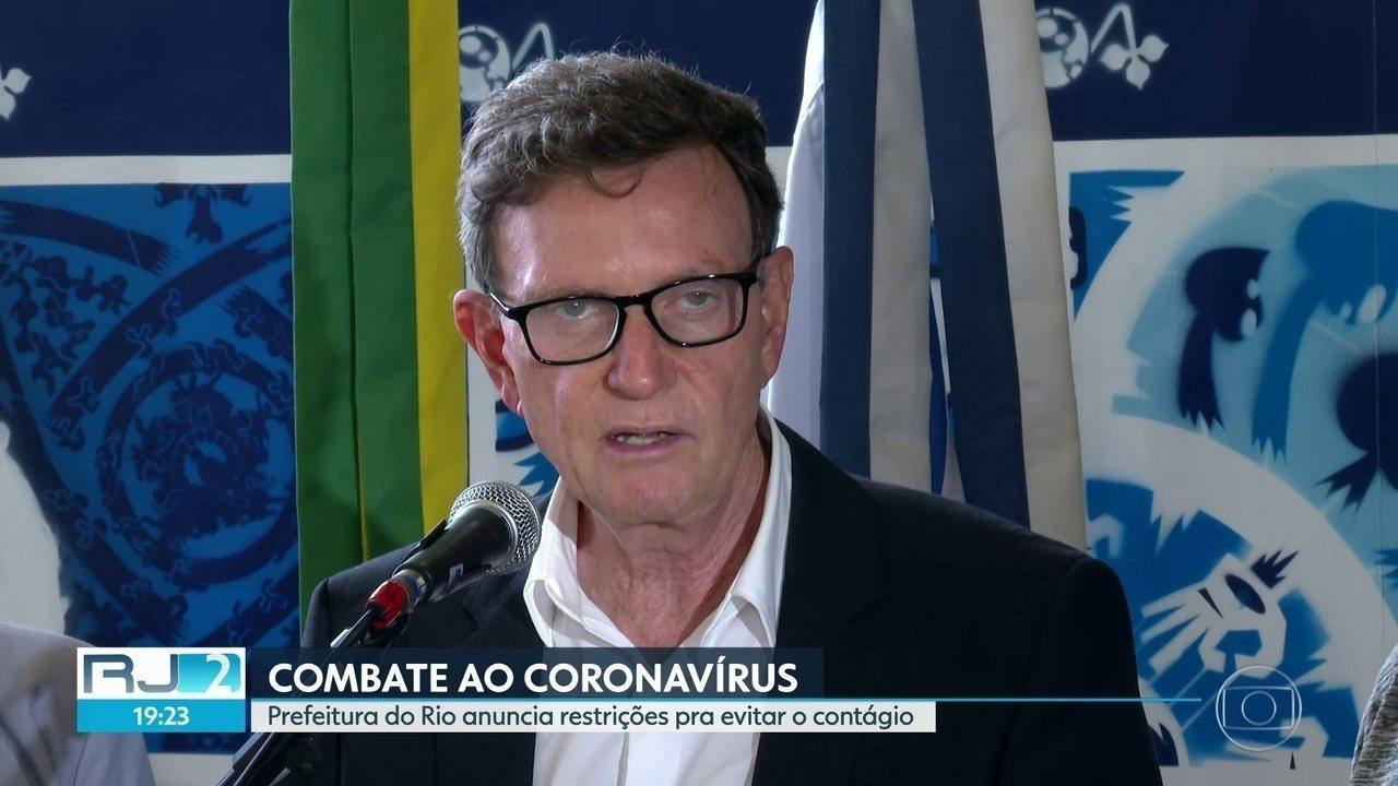 Prefeitura do Rio anuncia restrições para evitar o contágio