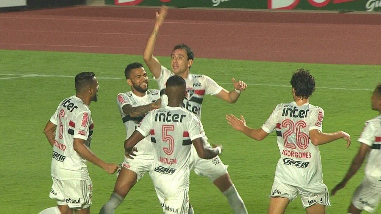 Os gols de São Paulo 2 x 1 Santos pela 10ª rodada do Campeonato Paulista