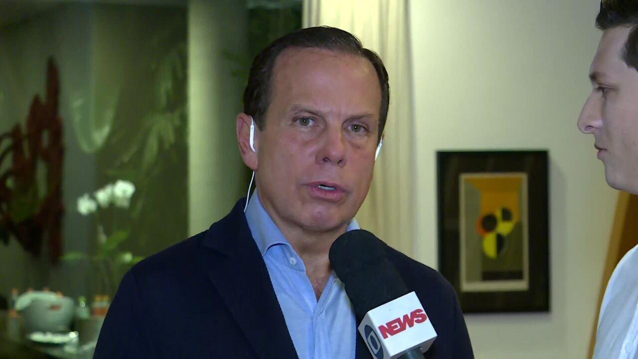 João Doria comenta aumento de 72% nos casos do coronavírus em São Paulo