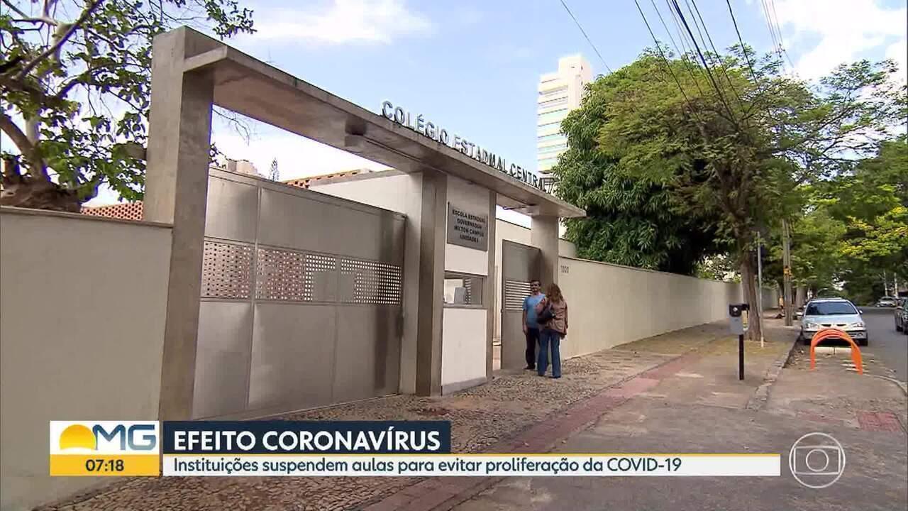 Governo de Minas determina recesso em escolas estaduais por causa do coronavírus