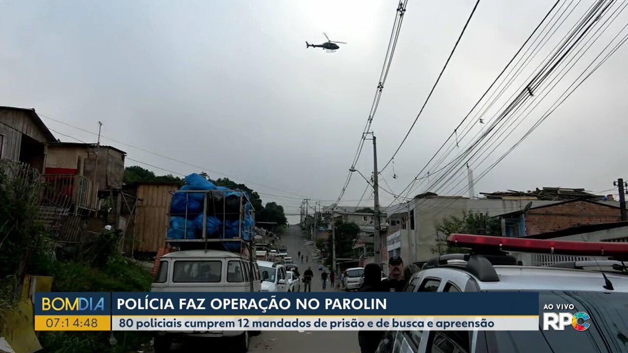 Polícia Civil faz operação no bairro Parolin