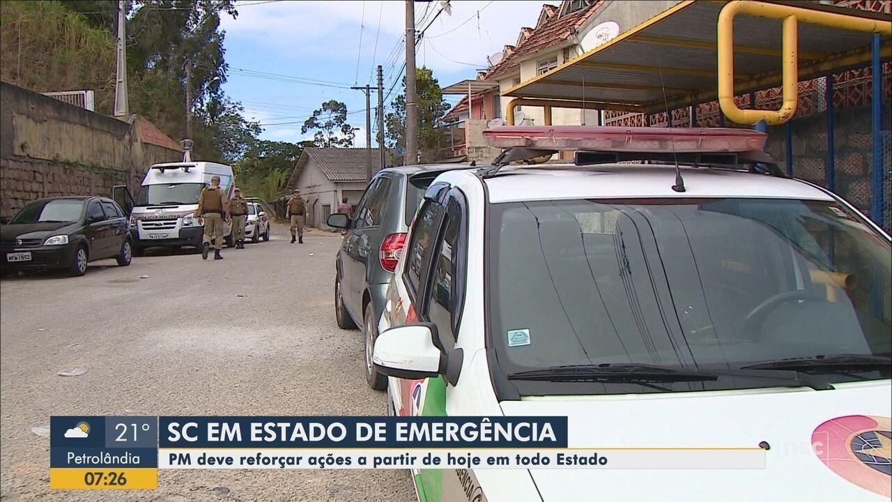 Polícia Militar deve reforçar ações a partir desta quarta-feira em Santa Catarina