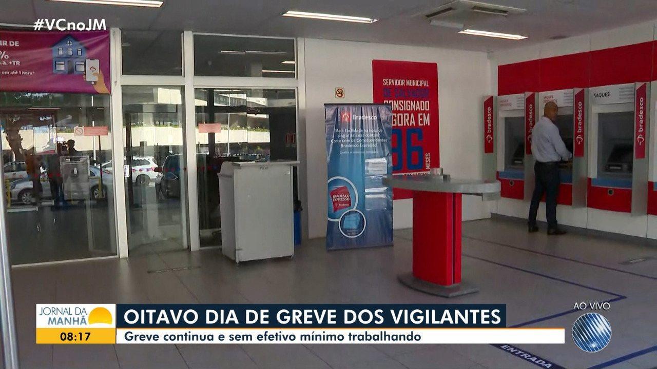 Greve de vigilantes na Bahia chega ao oitavo dia