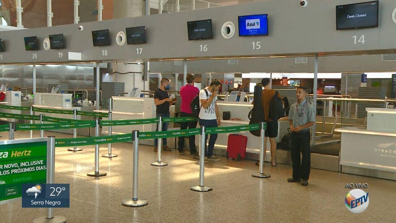Viracopos tem queda no número de voos após aumento de casos da Covid-19