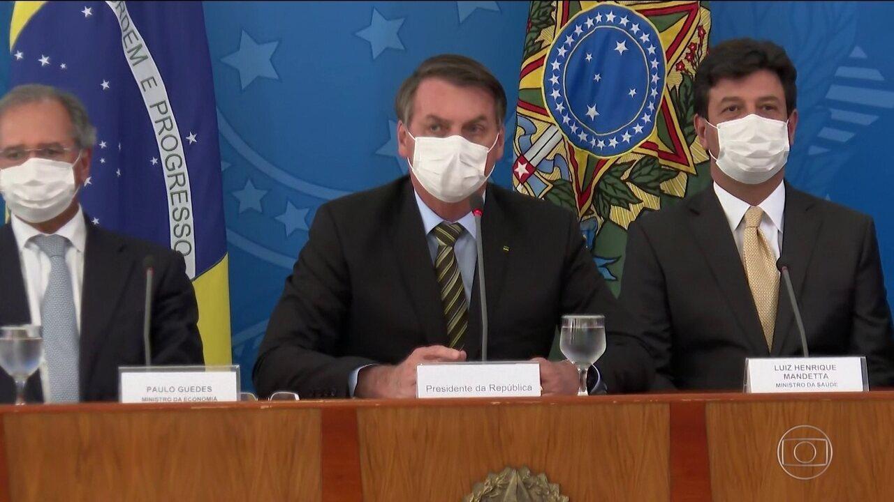 Bolsonaro reúne ministros e anuncia medidas para a crise da Covid-19