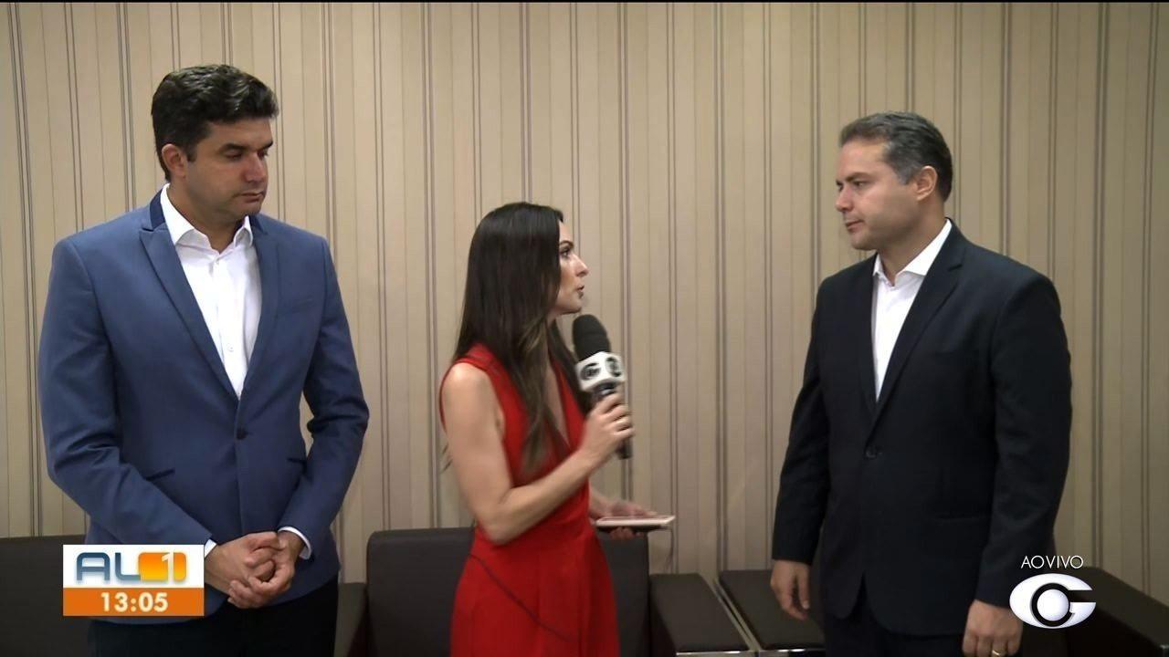 Prefeito Rui Palmeira e governador Renan Filho anunciam decretos de emergência