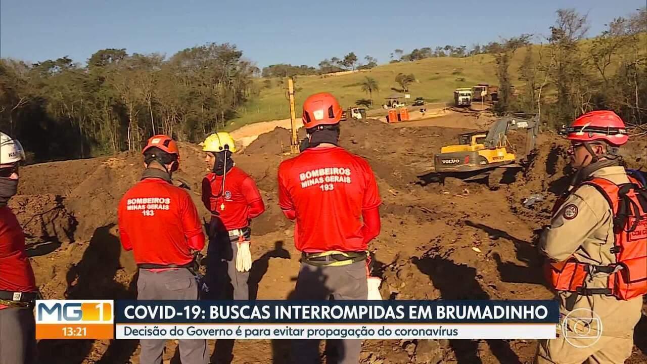 Governo de MG determina interrupção nas buscas por desaparecidos do rompimento de barragem