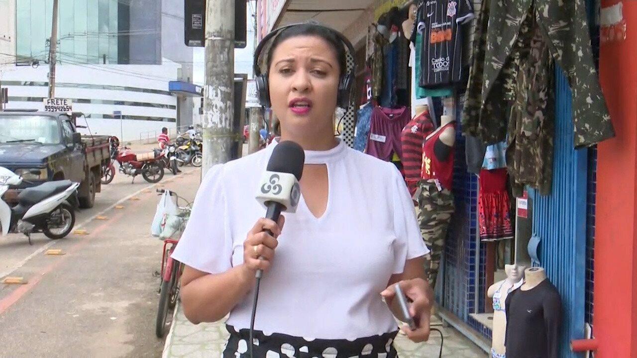 Repórter Aline Vieira fala sobre lojas que continuam abertas mesmo após decreto