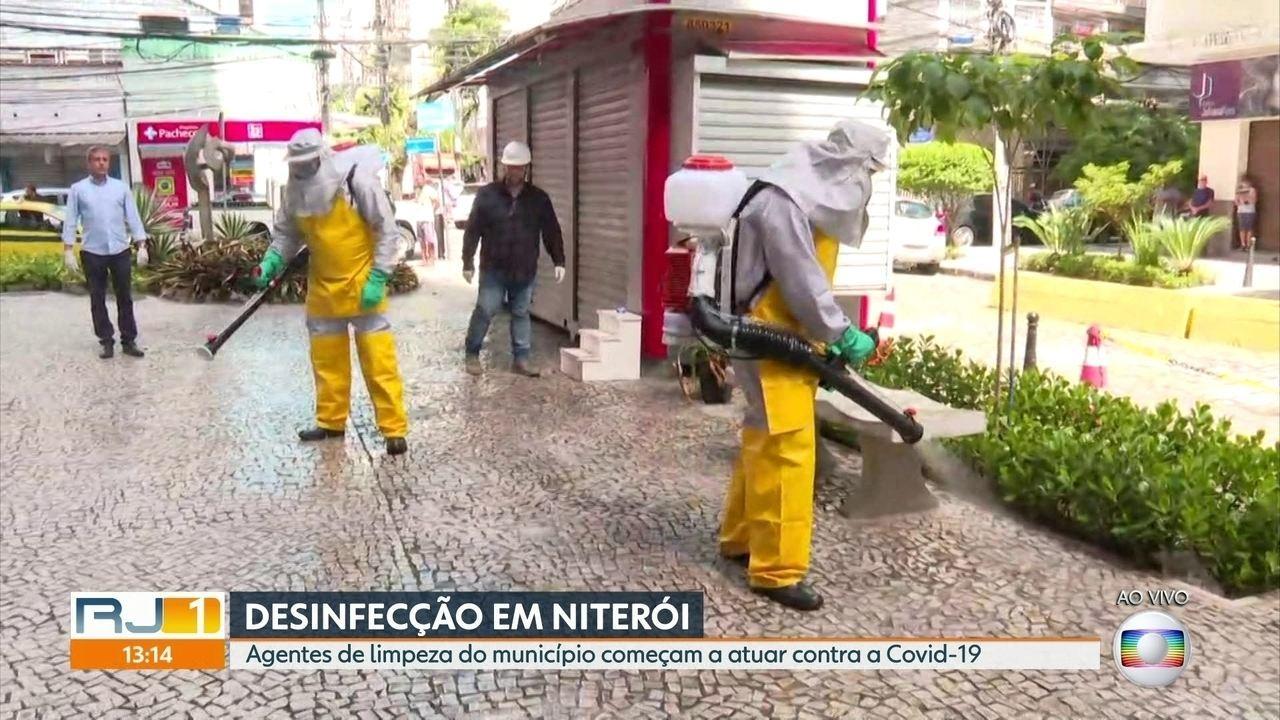 Prefeitura de Niterói começa processo de desinfecção da cidade ...