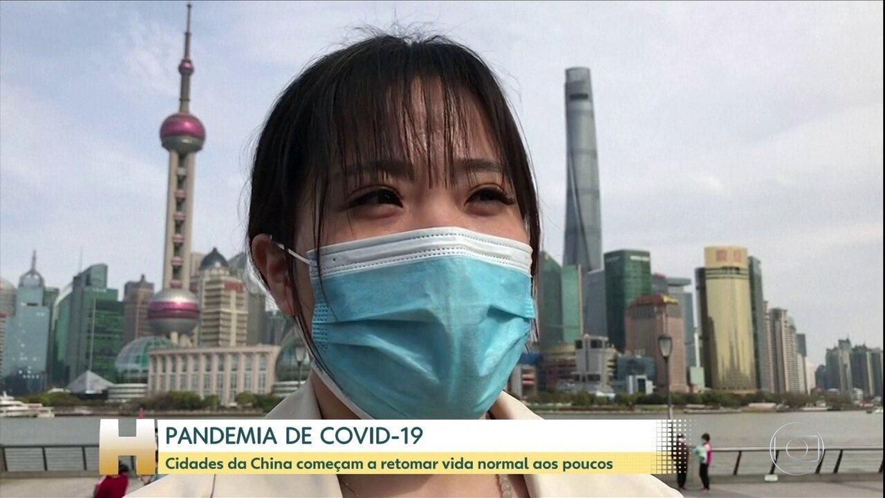 Cidades da China começam a retomar vida normal aos poucos