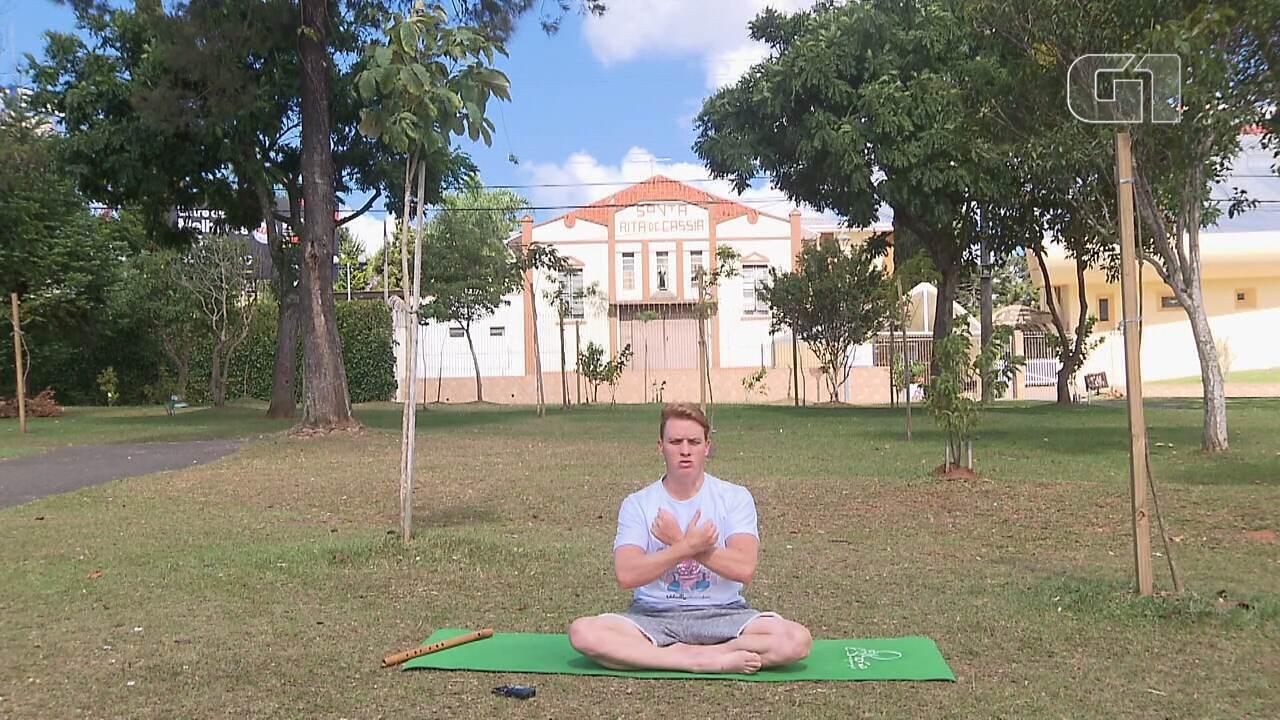 Yoga na quarentena: relaxe e mentalize coisas boas com a ajuda do G1 Paraná (aula 3)