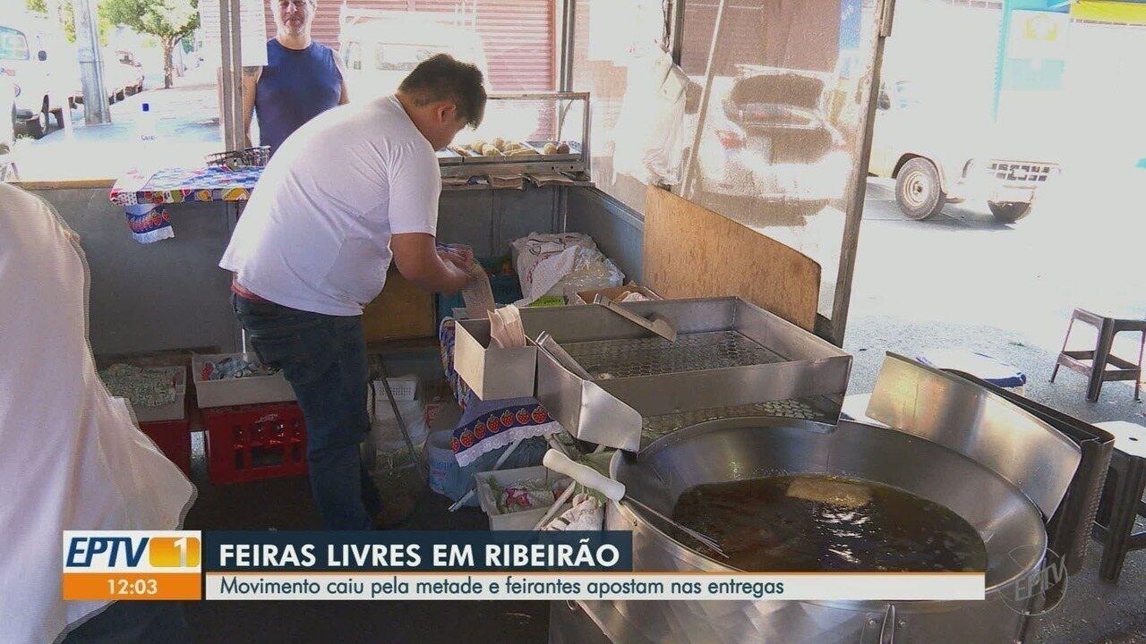 Movimento nas feiras livres cai pela metade após decreto de calamidade em Ribeirão Preto