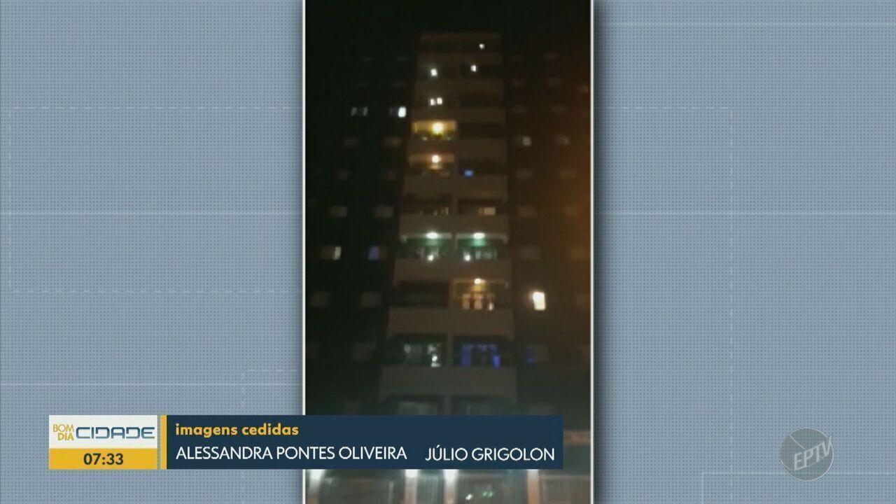 Em Valinhos, moradores cantam parabéns para jovem de 18 anos nas sacadas de condomínio