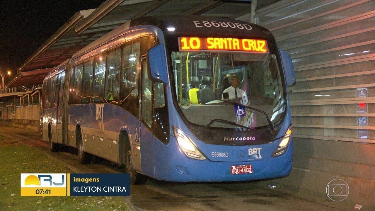 BRT está suspenso durante a madrugada para combater o avanço da Covid-19