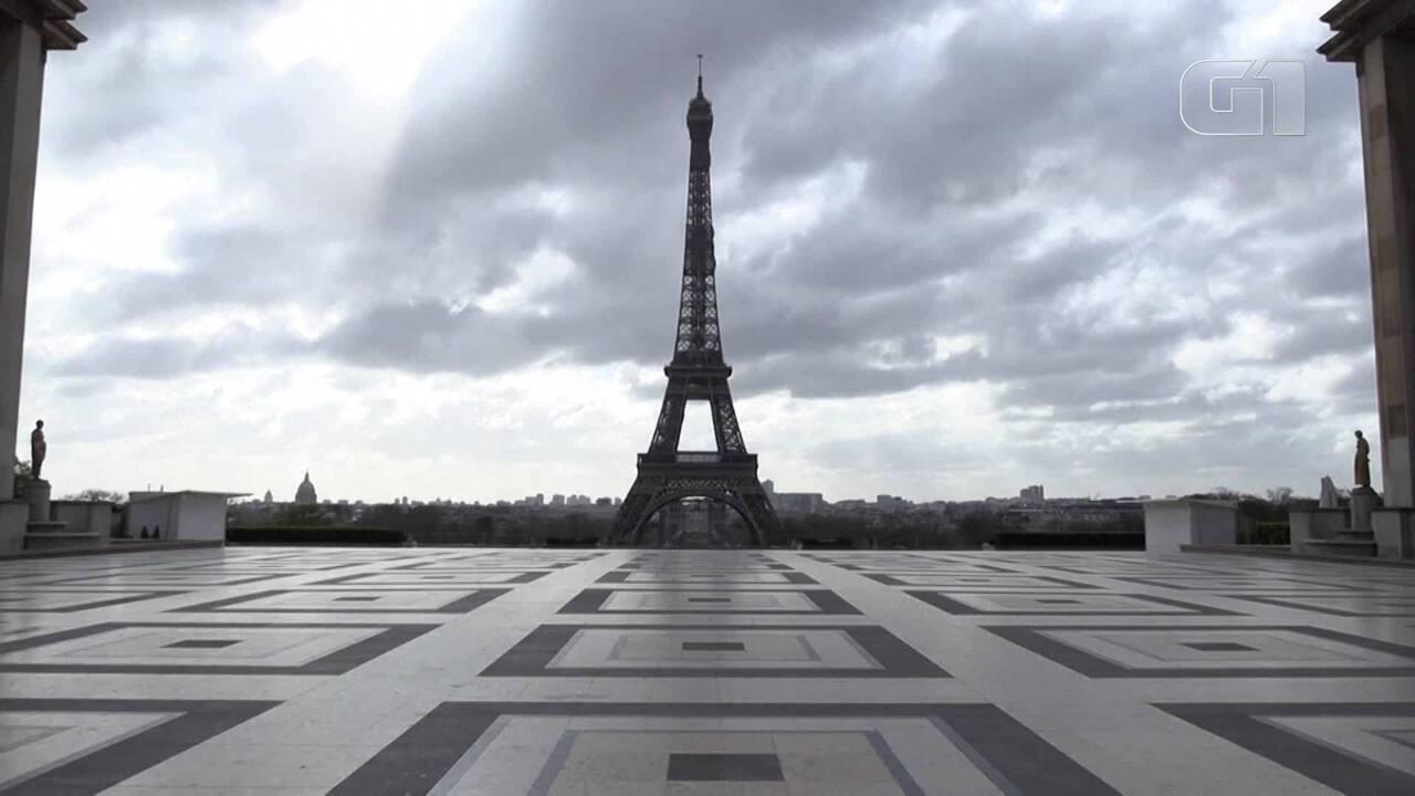 Imagens de Paris mostram ruas e monumentos completamente vazios