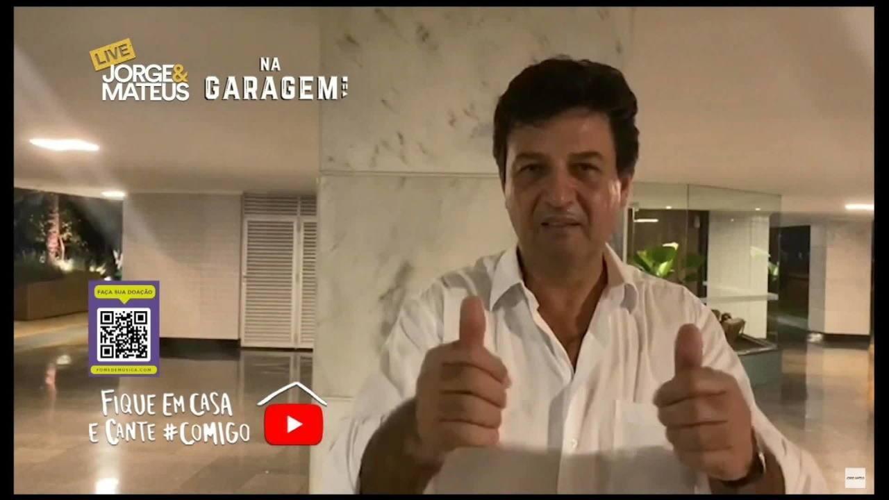 Em live de Jorge e Mateus, Mandetta manda recado. Foto: Reprodução