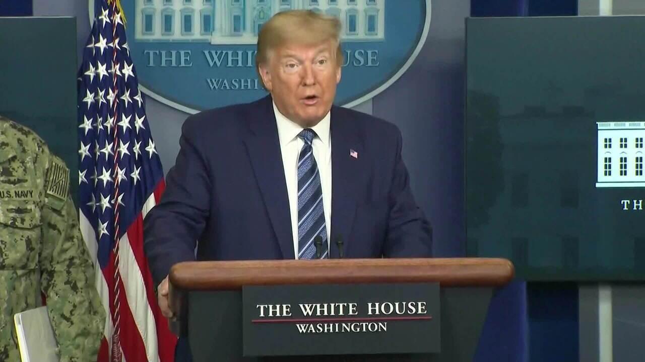 Trump diz que EUA terão número terrível de mortes