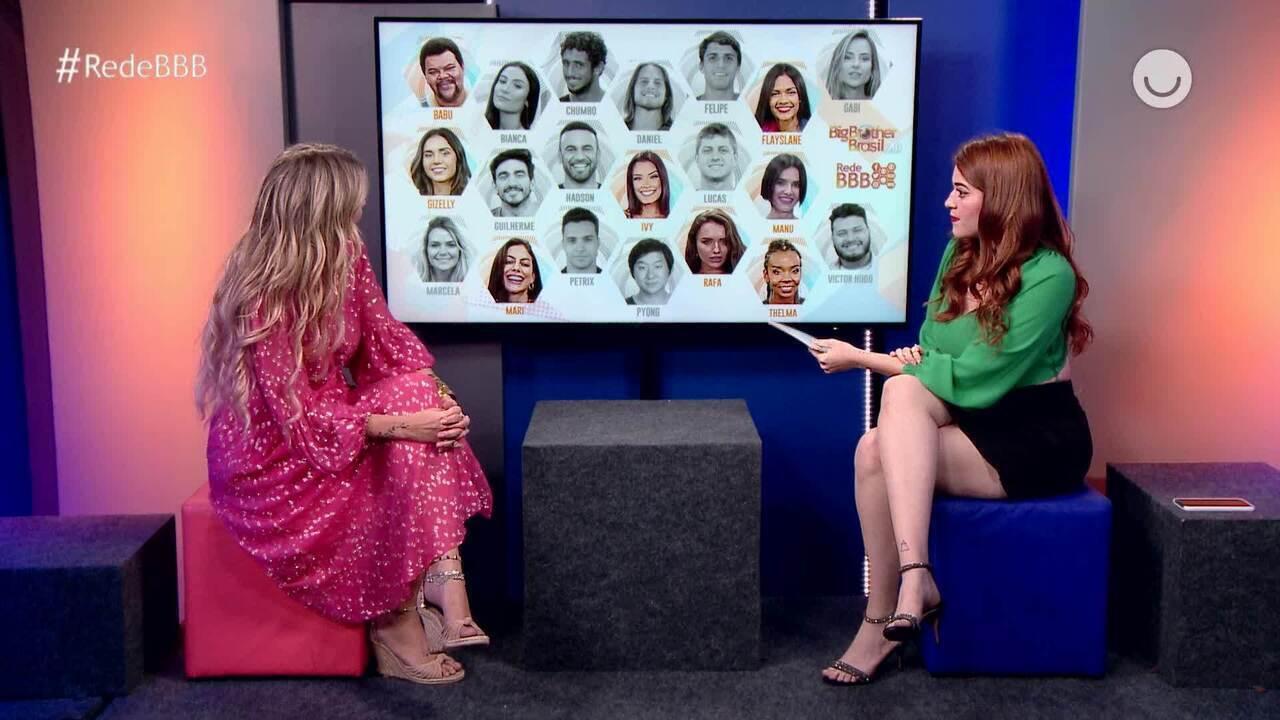 Marcela analisa o jogo no mosaico do Bate-Papo BBB