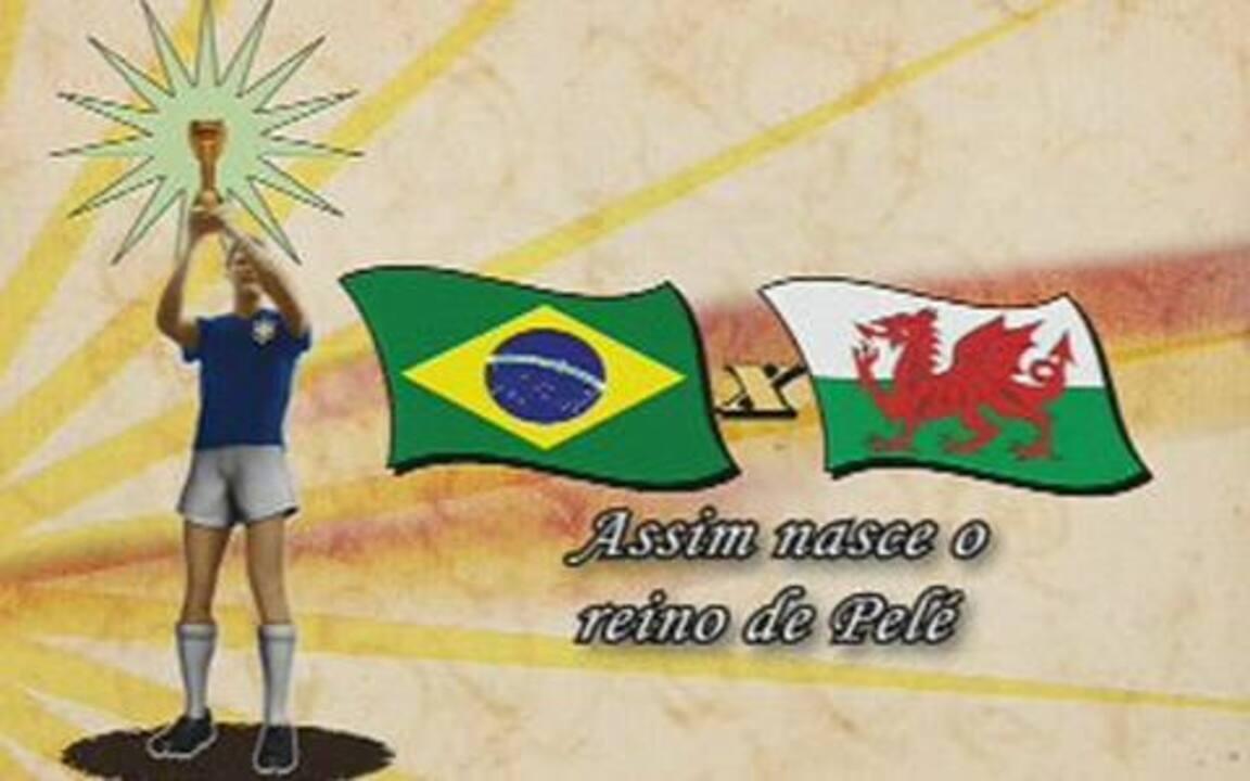 Em 2008, o Globo Esporte recordou o confronto entre Brasil e País de Gales pela Copa do Mundo de 1958 e destacou o primeiro gol de Pelé; veja no vídeo