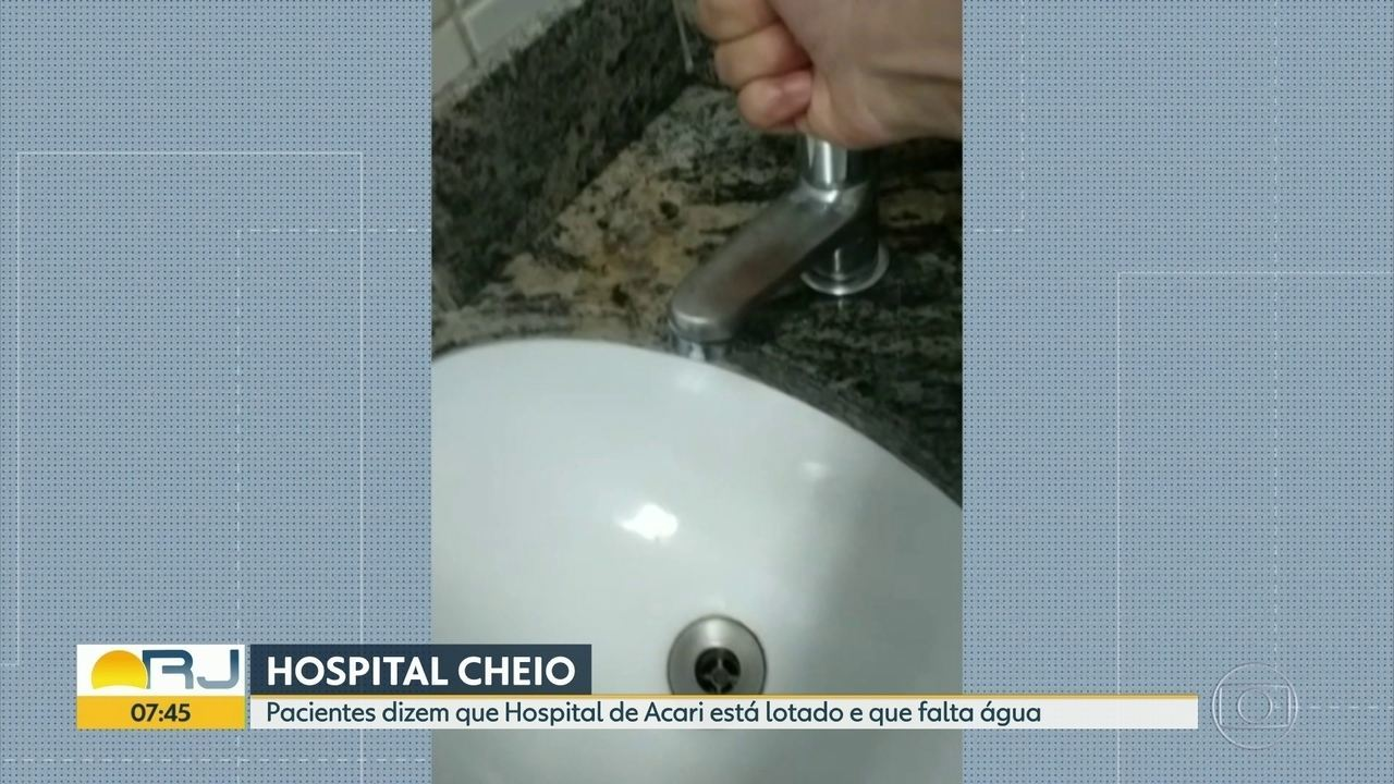 Pacientes dizem que hospital Ronaldo Gazolla está lotado e que falta água na unidade