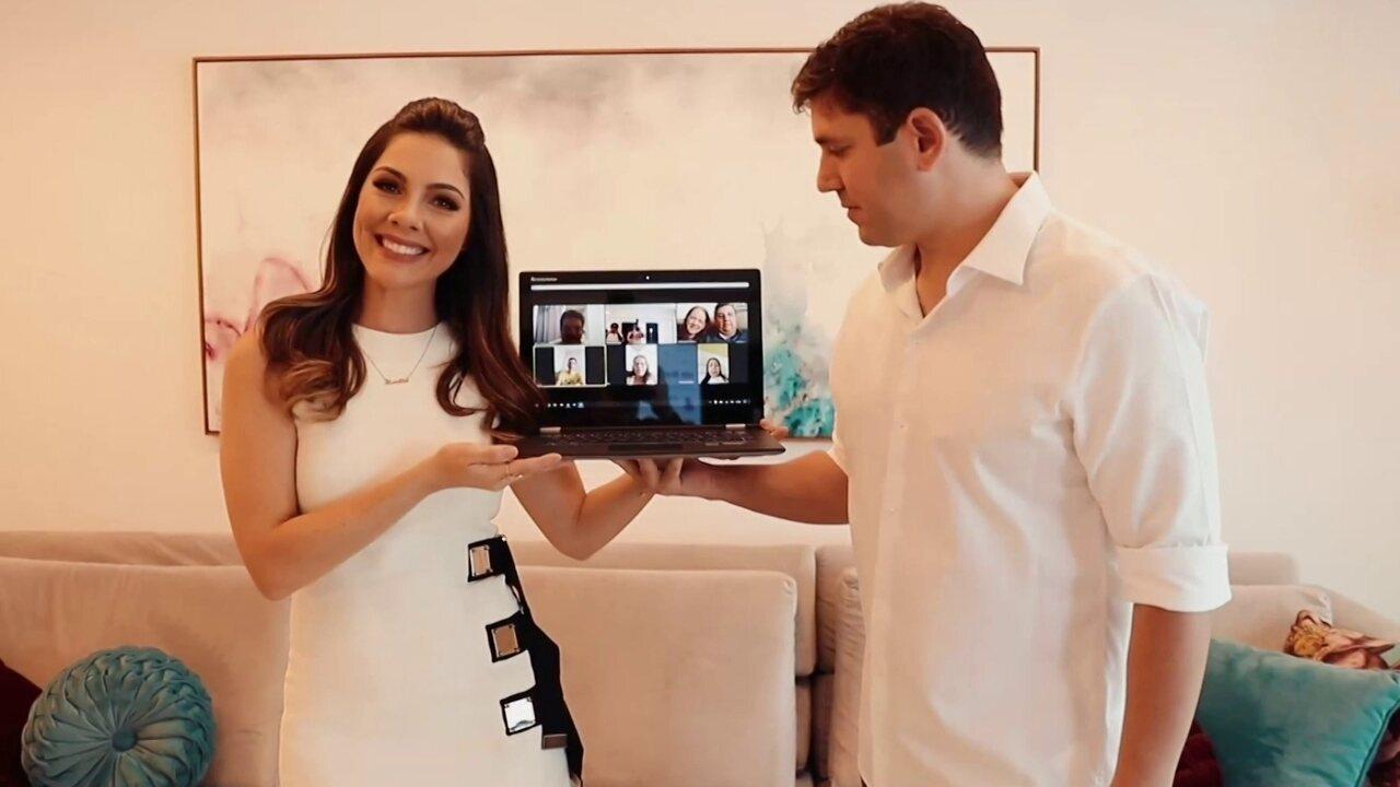 Casamento é feito no Recife por videoconfererência devido à pandemia do novo coronavírus