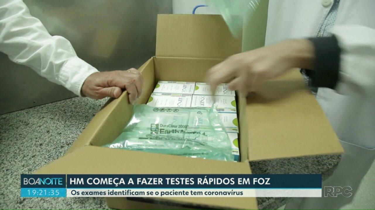 Hospital Municipal de Foz começa a fazer testes rápidos