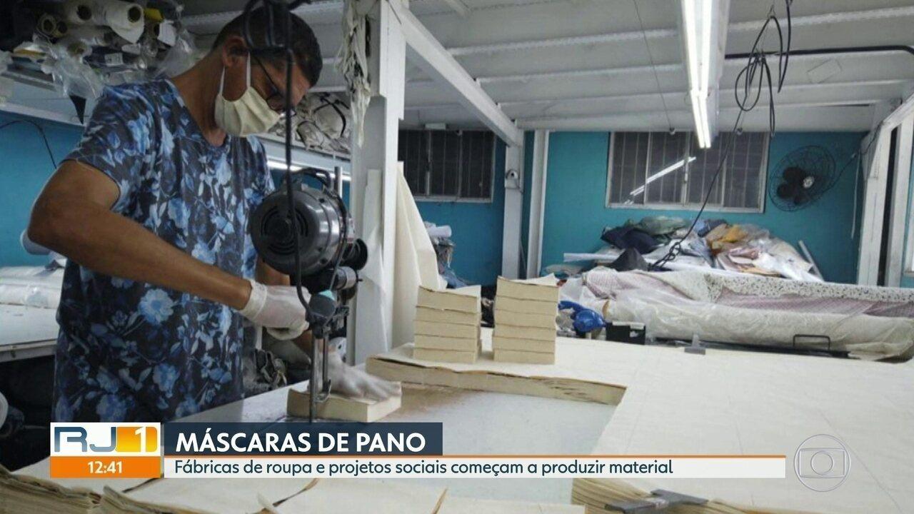 Fábricas de roupa e projetos sociais começam a produzir máscaras de pano