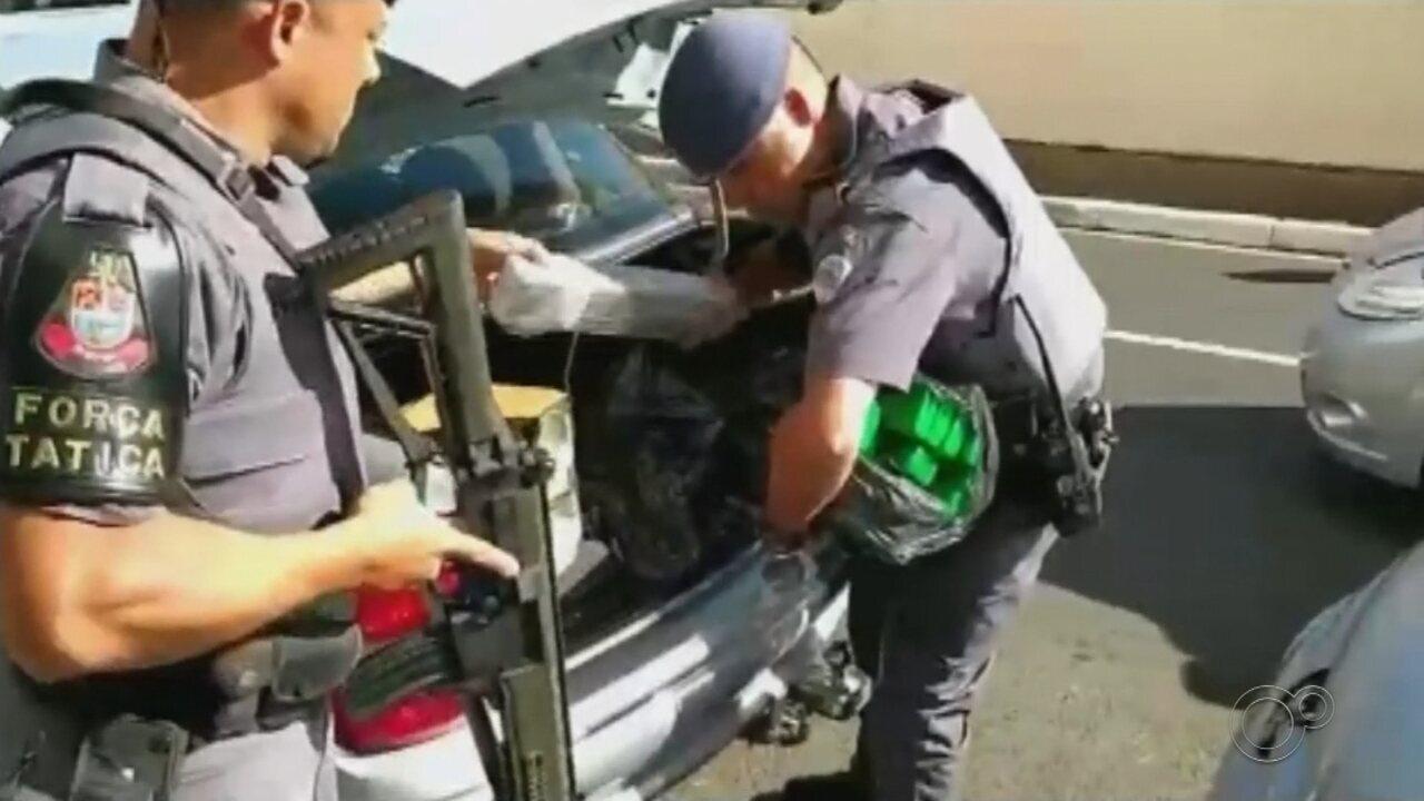 Polícia Militar apreende mais de meia tonelada de maconha em Marília e Lins
