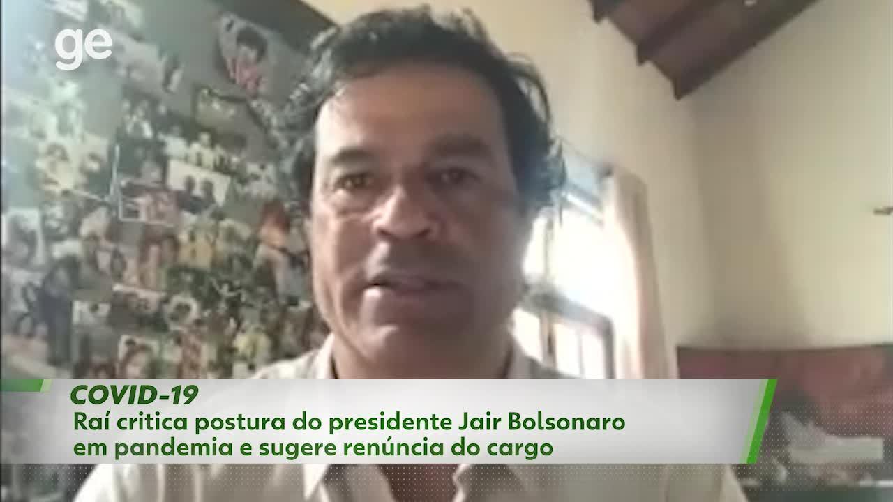 Raí critica postura do presidente Jair Bolsonaro em pandemia e sugere renúncia