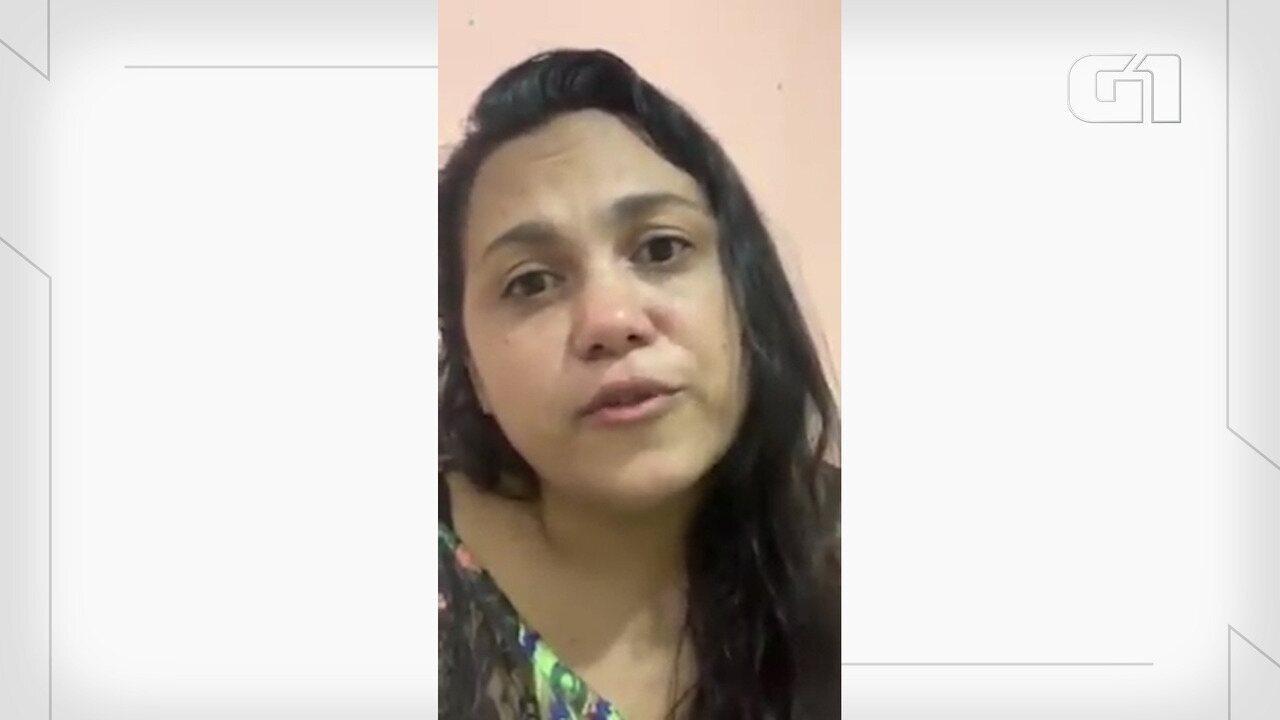Mulher lamenta morte do marido por Covid-19 na Paraíba