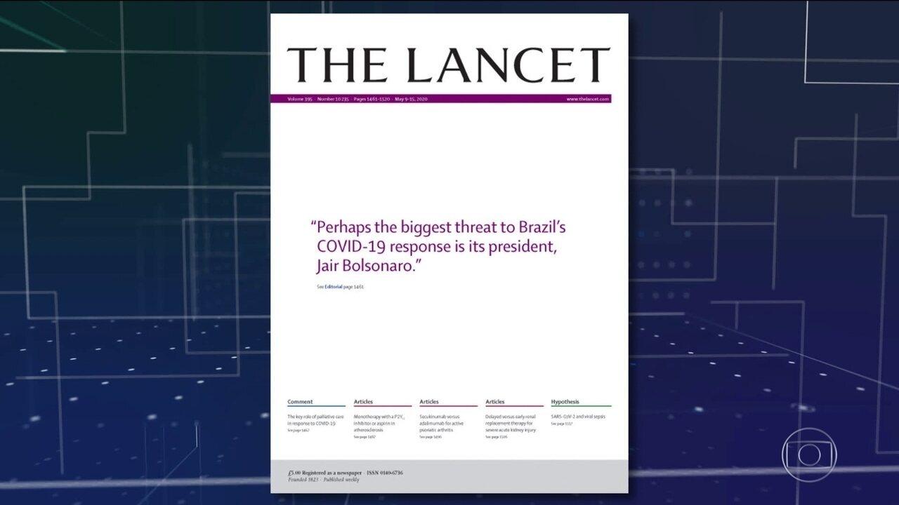 Editorial da revista The Lancet critica ações do governo brasileiro no combate à covid-19