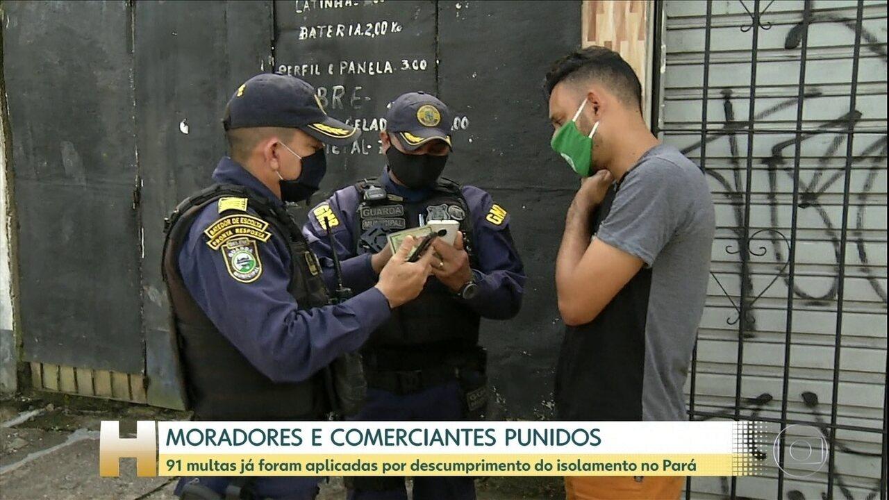Primeiro dia de punição para quem descumprir 'lockdown' tem 60 multas aplicadas no Pará