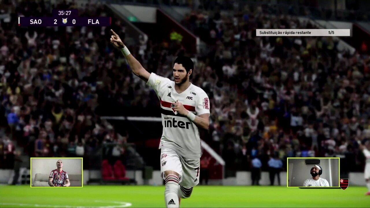Melhores momentos: São Paulo (Antony) 3 x 1 (Gabigol) Flamengo pelo Futebol de Casa