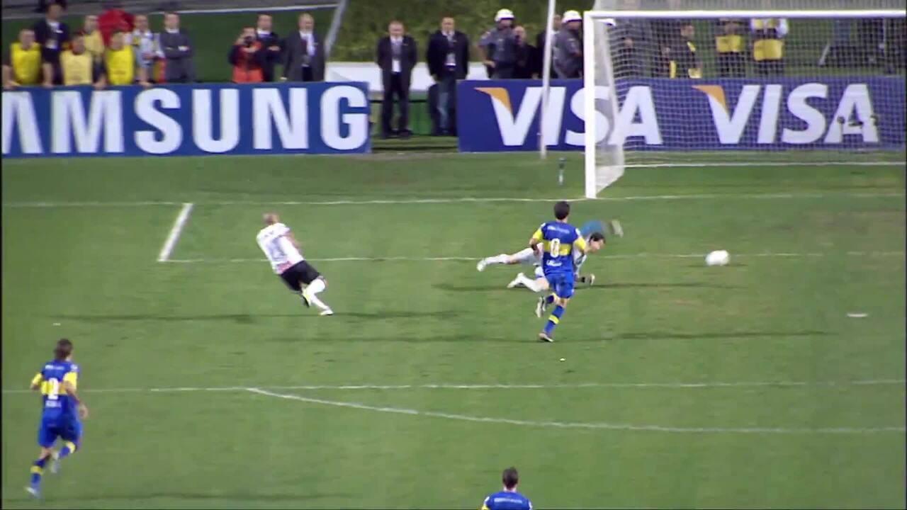 Gol do Corinthians! Sheik faz o segundo dele na final da Libertadores 2012