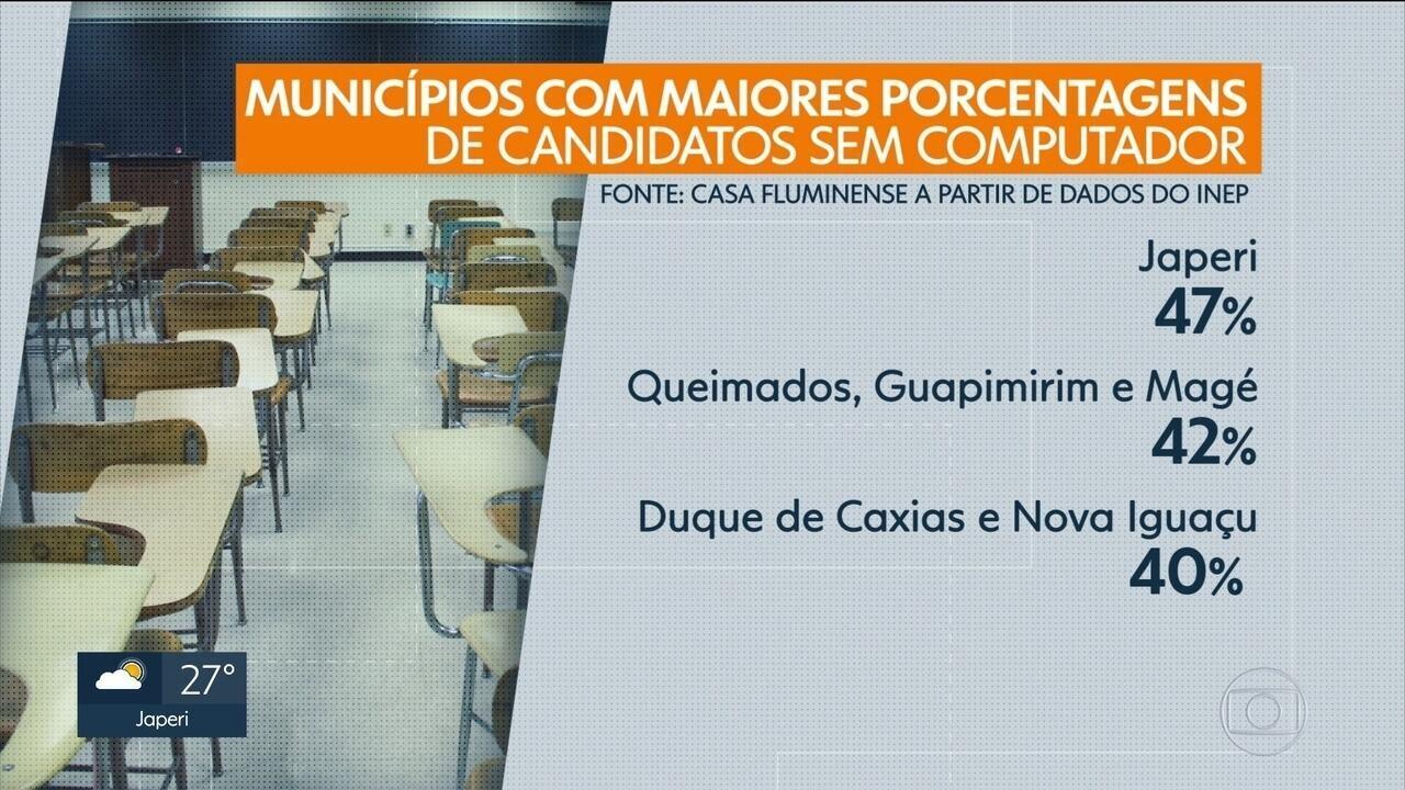 Enem preocupa quem não tem acesso fácil à internet no Rio de Janeiro