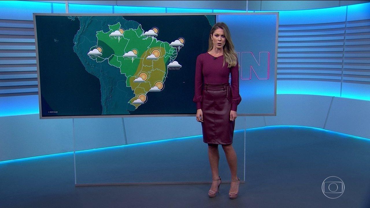 Veja a previsão do tempo para esta quarta-feira (20) pelo Brasil