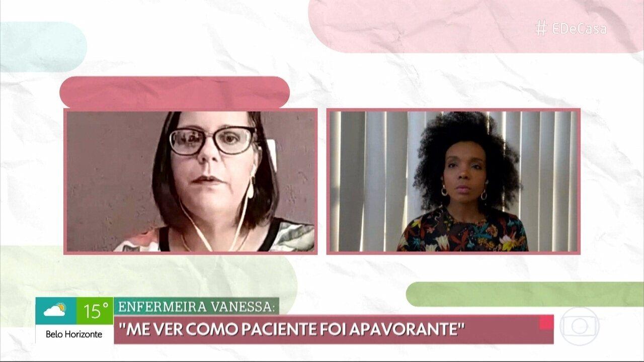 Thelma conversa com pessoas que se curaram do coronavírus