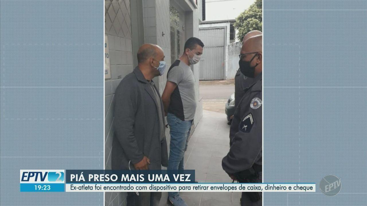 Ex-jogador da Ponte Preta Piá é preso pela quarta vez por furto a caixa eletrônico