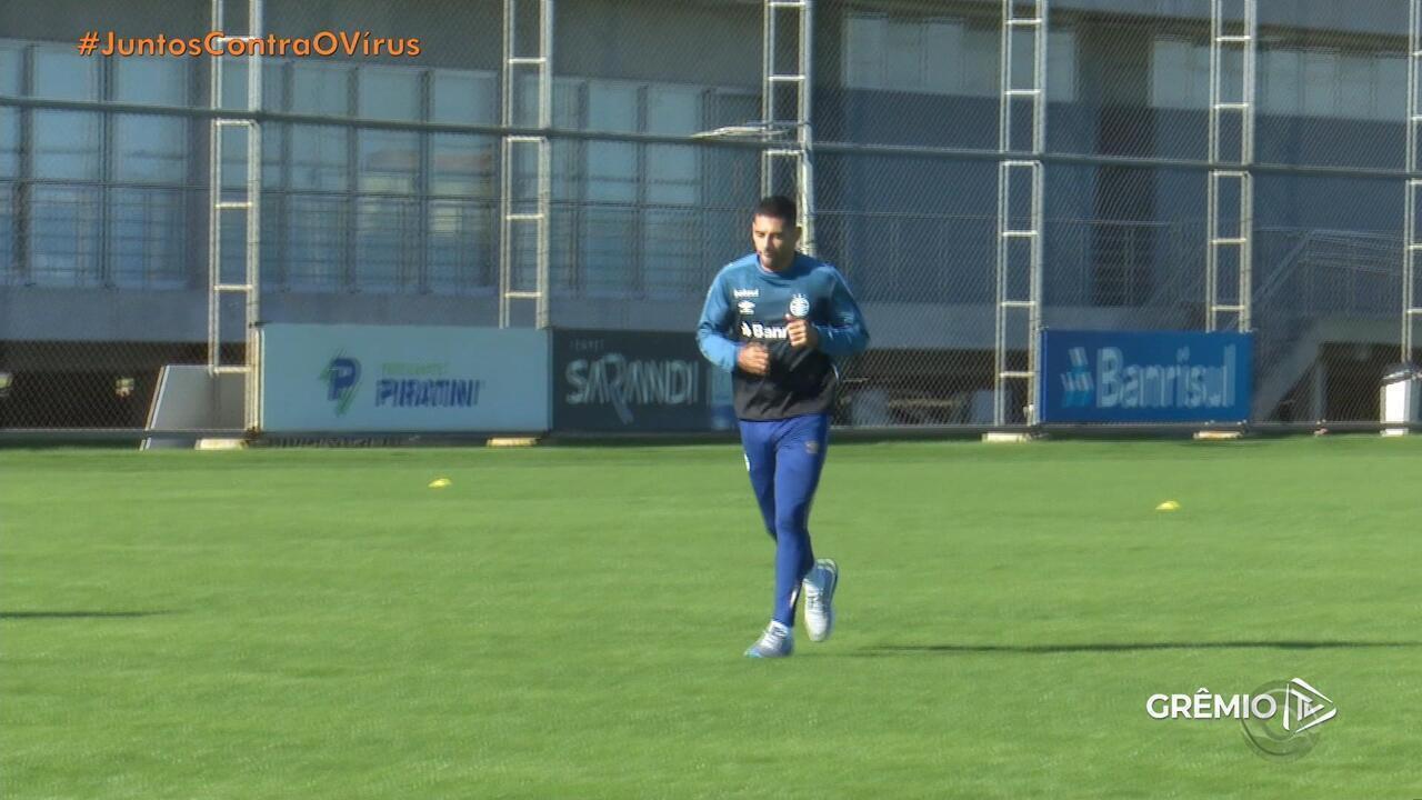 Recuperado, Diego Souza terá rotina especial no Grêmio em volta aos treinos