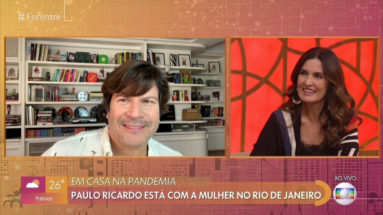 Paulo Ricardo conta como está o desafio da quarentena