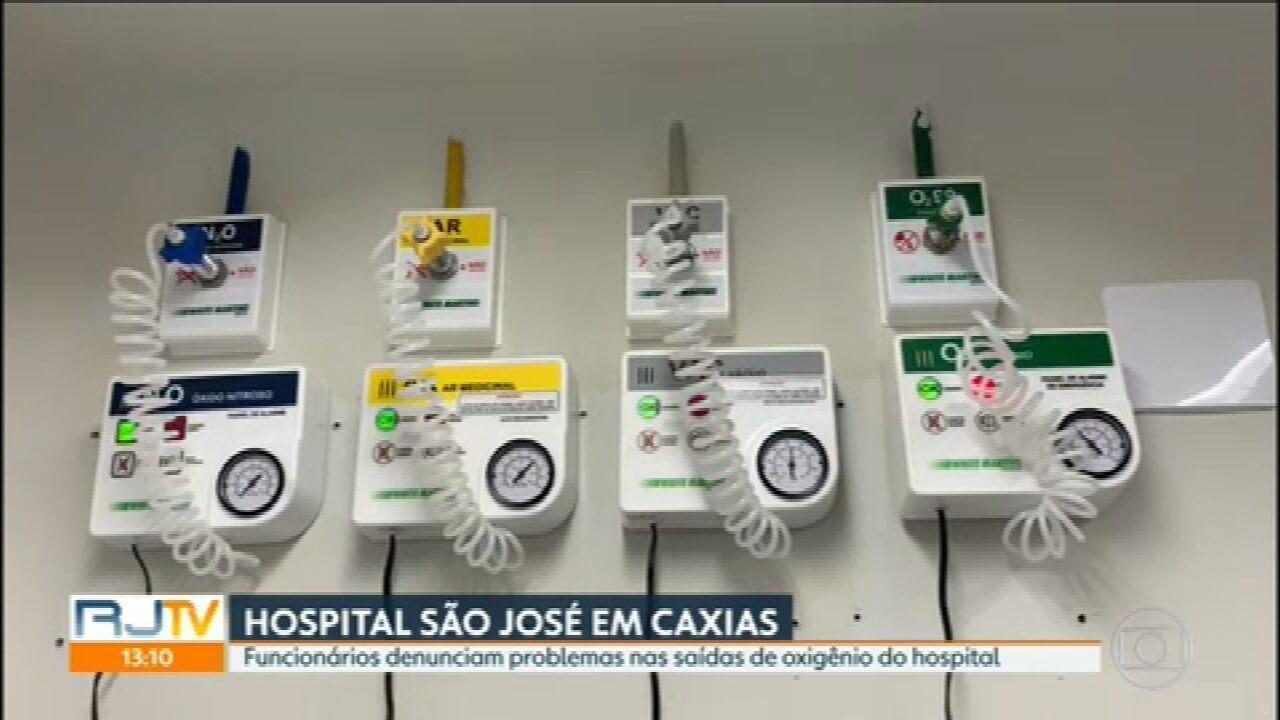 Funcionários denunciam problemas nas saídas de oxigênio do Hospital São José, em Caxias