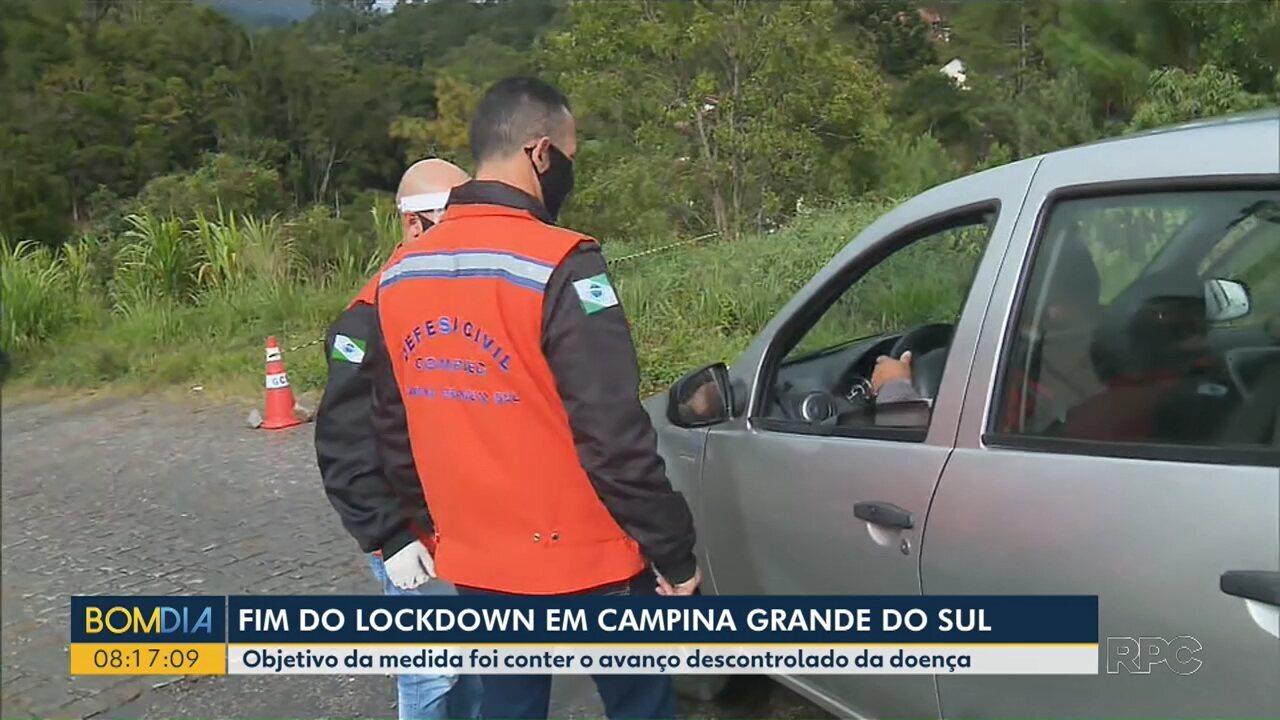 Fim do lockdown em Campina Grande do Sul