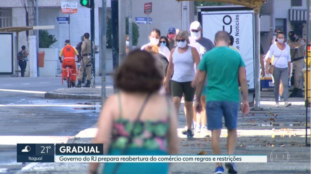 Governo do Rio prepara reabertura do comércio com regras e restrições