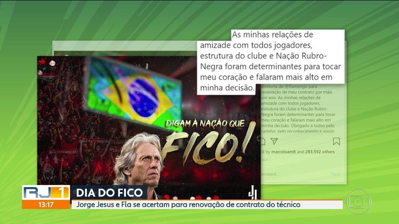 Dia do Fico: Jorge Jesus renova com o Flamengo