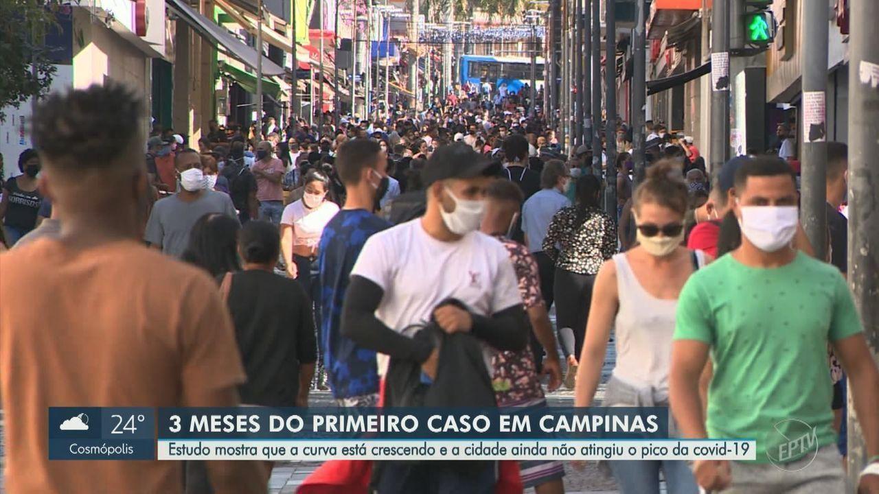 Covid: 1º caso em Campinas completa 3 meses e cidade está 'longe' de pico da pandemia