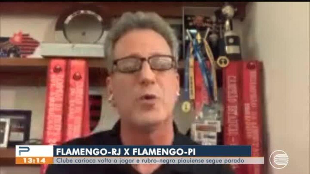 Flamengo-PI segue sem atividades, enquanto Flamengo-RJ vive outra realidade e retoma jogos