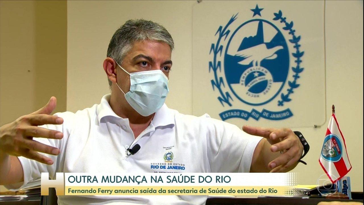 Fernando Ferry pede demissão da Secretaria Estadual de Saúde do Rio nesta segunda (22)