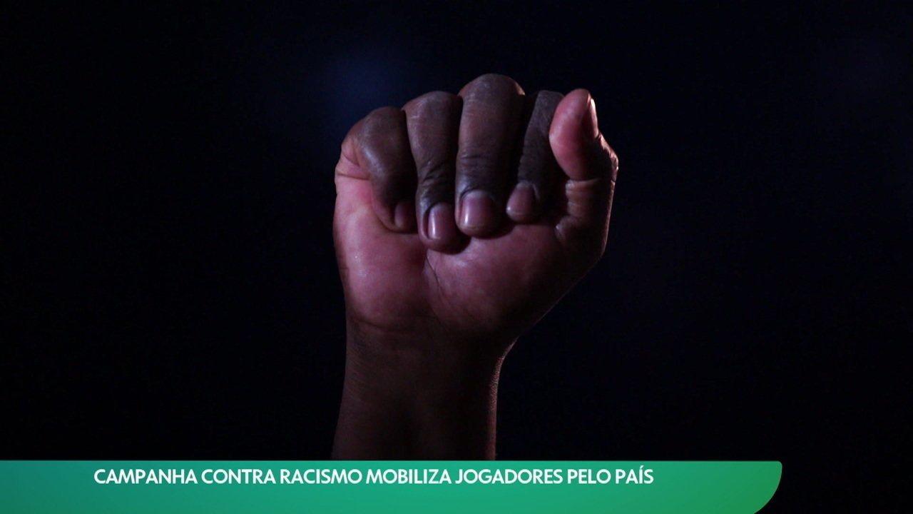 Campanha contra racismo mobiliza jogadores pelo país