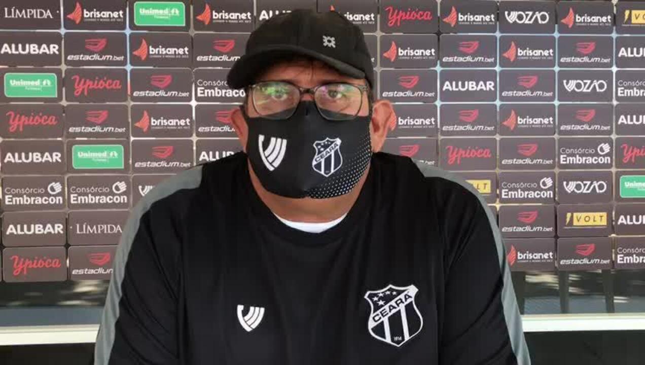 """Guto Ferreira analisa estreia no comando do Ceará: """"Não demos chance para o adversário"""""""