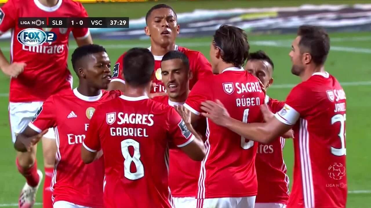 Os gols de Benfica 2 x 0 Vitória de Guimarães pelo Campeonato Português